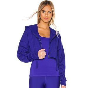 Alo NEW Extreme Crop Sweatshirt Jacket Sapphire